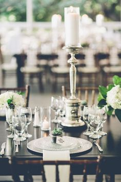 wedding centerpiece idea; photo: Gina and Ryan