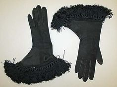 Gloves, French 1945, leather.