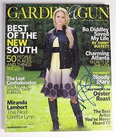 MIRANDA-LAMBERT-Signed-Autograph-034-Garden-And-Gun-034-Magazine