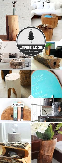 Home Decor Ideas: Using Large And Small Logs