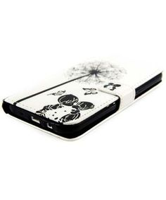 Samsung Galaxy J5 Bloem Lederen Portemonnee Case Zwart