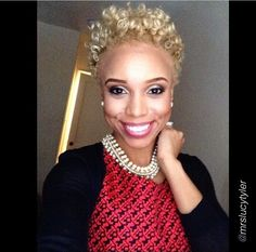 BLONDE #naturalhair #twa