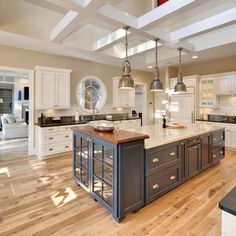 Traditional Home Blue Paint Oak Kitchen Design, Pictures, Remodel, Decor and Ideas - page 4
