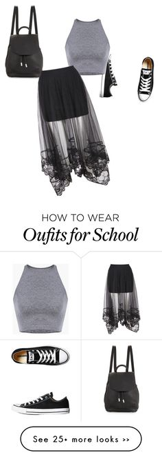 La pollera con el top, pero no con zapatillas ni para la escuela!!