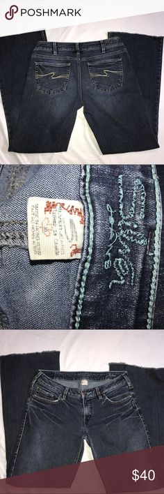 Silver Aiko jeans size 30x31 Good condition . Altered hem to a 31 inseam and fringe Silver Jeans Jeans Boot Cut