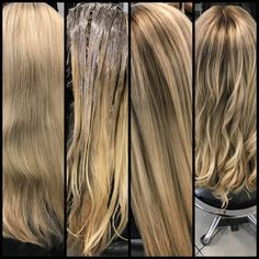 Daniel Golz, Balayage Technique, White Hair, Balayage Hair, Hair Makeup, Hair Color, Long Hair Styles, Blond, Amp