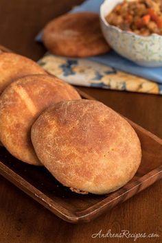 Andrea Meyers - Marrakech Tagine Bread (Semolina Flatbread)