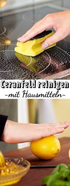 Ceranfeld mit Hausmitteln reinigen – so geht's These home remedies work at the ceramic field clean miracles! We also give you the best tips for care. House Cleaning Tips, Cleaning Hacks, Spring Cleaning, Diy Household Tips, Homemade Toilet Cleaner, Crafts For Teens To Make, Toilet Cleaning, Natural Cleaning Products, Tips