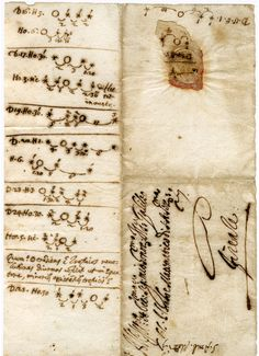 Galileo GALILEI.  Autograph notes on the satellites of Jupiter, 14–25 January 1611