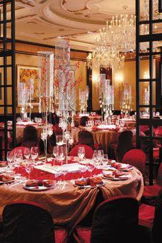 Chinese inspired wedding setup at Shangri La Island, Hong Kong