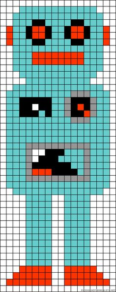 Robot perler bead pattern