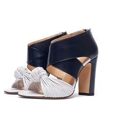 Sandales à talons Noir et Blanc - BIONDA CASTANA