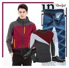 """Men Fashion Look - Rosegal.com 69"" by bebushkaj ❤ liked on Polyvore featuring men's fashion and menswear"