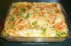Turkey Tetrazzini casserole - comfort food using your leftover Thanksgiving turkey.