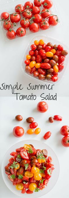 Simple Summer Tomato Salad. Healthy, light, delicious and portable so you can pack it for all your summer adventures. Ad