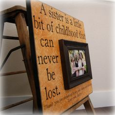 Bridesmaid Gift Custom Picture Frame 16x16 SISTERS Wedding Gift Sorority Best Friend Maid of Honor Bridesmaid Bridal Party. $75.00, via Etsy.