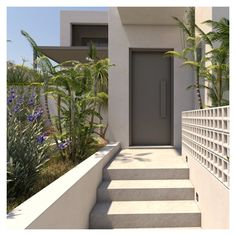 Nature is becoming a vital part of the synthesis process, sometimes acting as a separator element and others as a meeting point. Outdoor Spaces, Outdoor Decor, Entrance Design, Pool Houses, Crete, Facade, Acting, Divider, Deck