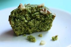 Sweet Spinach muffin. Healthy yet yummy.  I told the kids it was a Dragon Muffin.