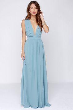 Evening of Bliss Light Blue Maxi Dress | Blue ties, Light blue ...
