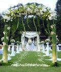 Outdoor wedding aisle decorations pictures