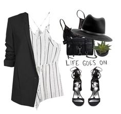 """""""- Life goes on ² -"""" by lolgenie ❤ liked on Polyvore featuring Rebecca Minkoff, rag & bone, Stuart Weitzman, Love Quotes Scarves and Helmut Lang"""