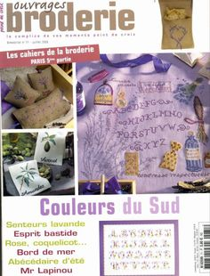 Ouvrages Broderie - №71 Cross Stitch Magazines, Cross Stitch Books, Magazine Cross, Free Magazines, Book Crafts, Craft Books, Le Point, Couture, Cross Stitch Embroidery
