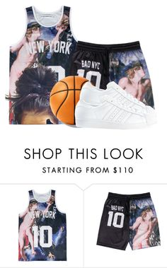 """""""Basketball"""" by spoiledbvbe ❤ liked on Polyvore featuring adidas"""