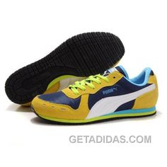 bc04fc990c72a1 Men s Puma Usain Bolt Running Shoes Blue Yellow White Free Shipping