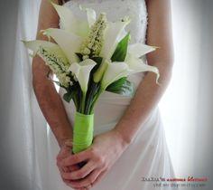 Bridal Bouquet white calla lillies