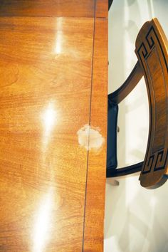 How to get that heat stain out of your wood - our dining room table has this EXACT problem. Gonna have to give this a shot