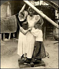 """Prinsa de Paa"" (1906) - - Photo taken in the Philippines. Talk about a serious commitment to ironing!"