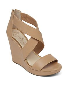 The perfect nude Spring wedge.