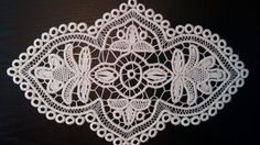 Items similar to Table Centerpiece Point Lace Romanian Style Crochet Doily, Ivory, Floral Pattern, x on Etsy Crochet Tablecloth, Crochet Doilies, Crochet Lace, Crochet Cord, Unique Crochet, Point Lace, Macrame Patterns, Lace Making, Wedding Art