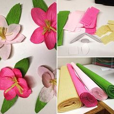Spotted in the back of the library: cherry blossoms being crafted out of really cool crepe paper. Now where will these lovely blossoms turn up? We shall see... #cidlib #clarkstonmi #librariestransform #librariesofinstagram #cherryblossoms PS. Thanks to @liagriffith for her awesome cherry blossom pattern and design!! #liagriffith