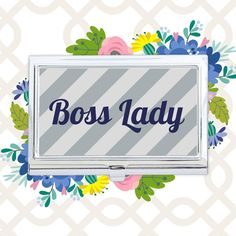 Mom's the boss at home and at work. Make her the custom business card case she deserves for Mother's Day. ‪#‎30giftsformom‬ #MothersDay