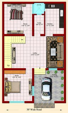 24 X 40 House Plans Unique Entrancing 20 House Plans Inspiration Awesome 24 X 40 2bhk House Plan, Model House Plan, House Layout Plans, Best House Plans, Small House Plans, House Layouts, House Floor Plans, Home Map Design, Home Design Plans