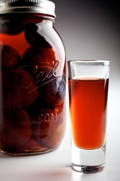 Slivovitz is a plum schnapps or brandy made all across Eastern Europe and -- under different names -- in Germany, France and Italy. Prune Plum, Slovak Recipes, Hungarian Recipes, Plum Recipes, Fall Recipes, Homemade Liquor, Homemade Alcohol, Homemade Gifts, Cocktails