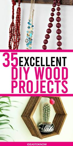 Easy Woodworking Projects - Cool DIY Wood Projects for Beginners - Easy Project Ideas and Plans for Homemade Gifts and Decor. Diy Wood Projects, Easy Projects, Project Ideas, Craft Ideas, Pallet Ideas Easy, Wood Projects For Beginners, Easy Woodworking Projects, Home Repair, Cool Diy