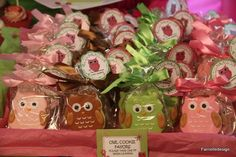 Owl Favor Cookies!  https://www.etsy.com/listing/122729510/printable-diy-favor-label-thank-you-for
