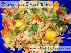 Pineapple Fried Rice Recipe - I bet this would be great in a bento!