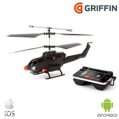 Regieren Sie den Luftraum und feuern Raketen ab mit diesem Griffin Helikopter für Smartphones.  http://www.mobilefun.de/36618-griffin-helo-tc-assault-missile-helikopter-fuer-smartphones.htm?referer=PI