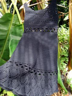 robe crochet noire 1