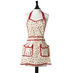 Jessie Steele Retro Cherry Convertible EVA Apron