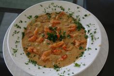 Creamy Crawfish Soup Being canjun and living in Southeast Texas gives me access to frozen carwfish tails. If you can't find crawfish, shrimp can be substituted easily. Crawfish Recipes, Cajun Recipes, Seafood Recipes, Appetizer Recipes, Soup Recipes, Appetizers, Cajun Food, Shrimp Soup, Seafood Soup