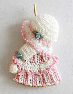 Picture of Mini Broom Dolls 1 Crochet Pattern Leaflet