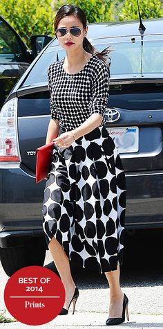 Look of the Day - December 27, 2014 - Jamie Chung in Banana Republic x Marimekko from #InStyle