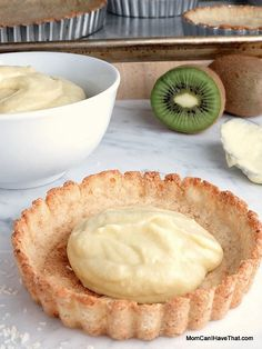 Almond-Coconut Tart Crust is egg-free, Low carb, Casein-free, Gluten-free and Paleo. It goes nicely with coconut pastry cream, lemon curd and fresh fruit. Perfect for creating creative and delicious low carb desserts! Low Carb Sweets, Low Carb Desserts, Gluten Free Desserts, Low Carb Recipes, Healthy Recipes, Quiche, Coconut Flour Pie Crust, Cooking With Coconut Milk, Coconut Tart