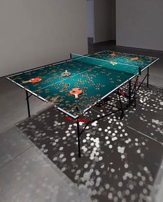 Beautiful Perforated Ping Pong Table by Richard Fauguet Table Tennis Bats, Ping Pong Table Tennis, Baroque, Vive Le Sport, Match Of The Day, Bizarre, Art Object, Poker Table, Wood Pallets
