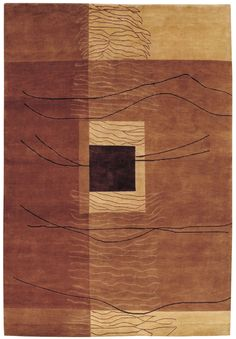 Vernon Hand-Knotted Burnished Earthtones Area Rug