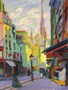 Auguste Herbin (French, 1882 - 1960) La Place Maubert à Paris 1907 oil on canvas 65.1 x 50.2 cm Private collection